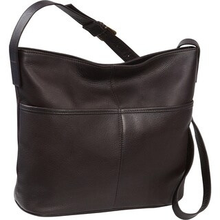 LeDonne Leather Two Slip Pocket Hobo Handbag