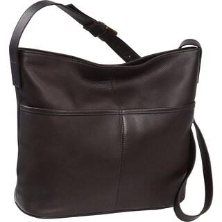 LeDonne Leather Two Slip Pocket Hobo Handbag (Option: Brown)