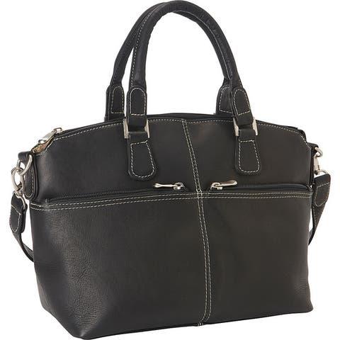LeDonne Leather Classic Satchel Handbag