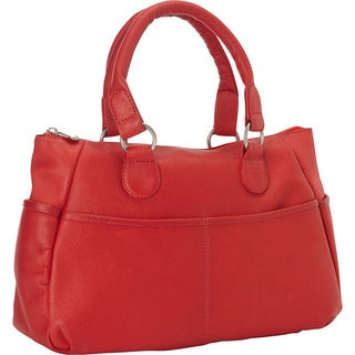 LeDonne Leather Slip Pocket Satchel Handbag