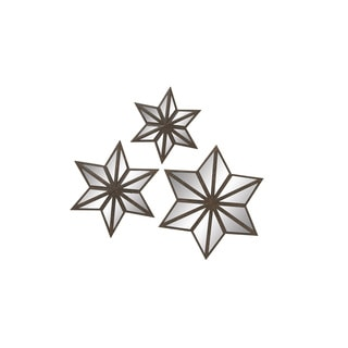 Metal Mirror Star (Set of 3) 16-inch/ 20-inch/ 24-inch