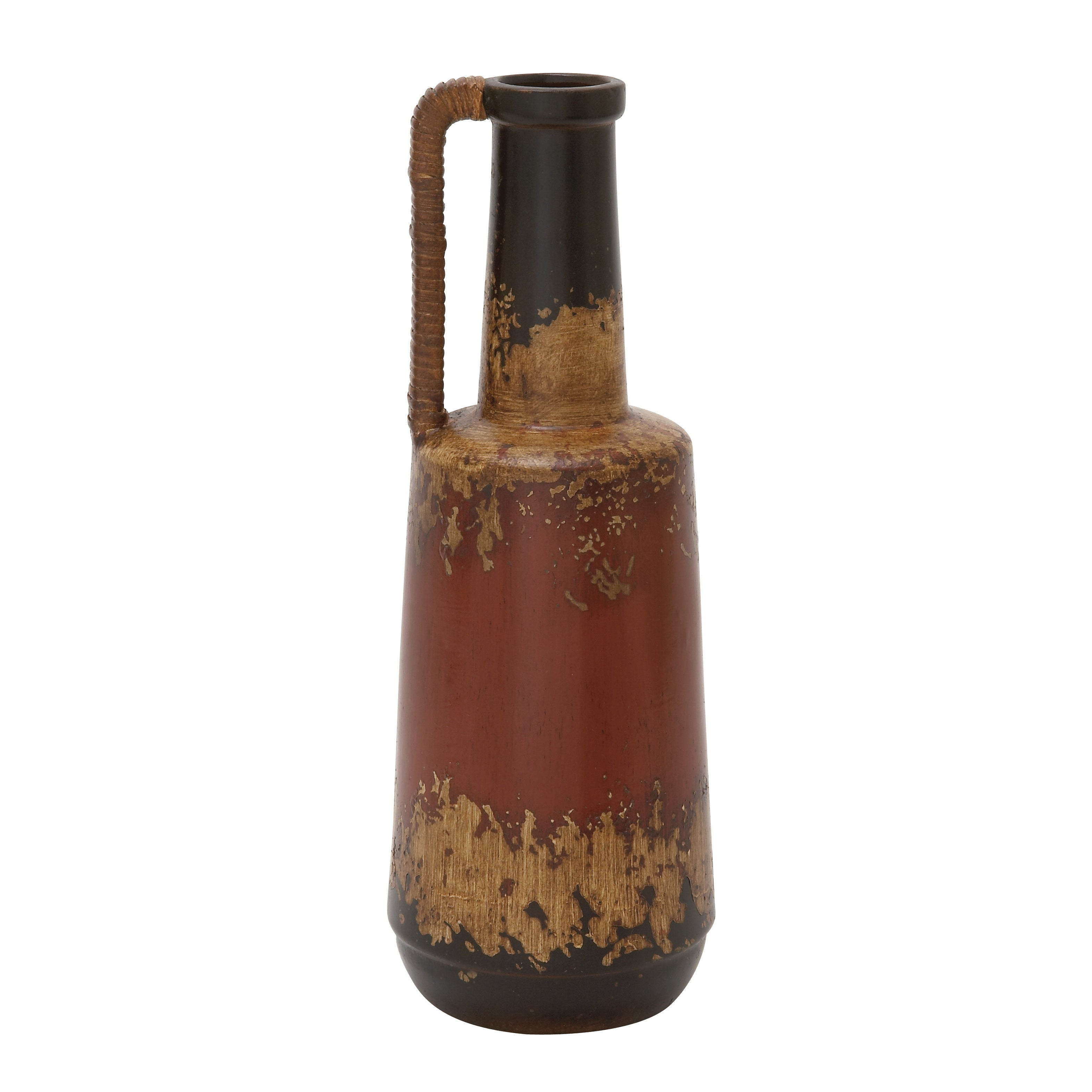 Ceramic Rattan Handle Pot 7-inch x 20-inch