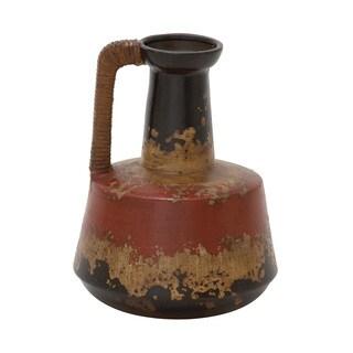 Ceramic Rattan Handle Pot 10-inch x 12-inch