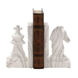 Ceramic Marble Finish Bookend Pair 5-inch x 8-inch