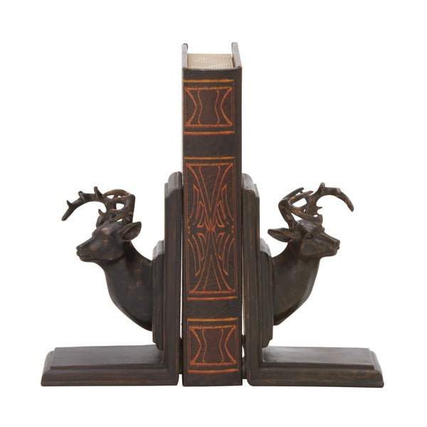 Polystone Deer Bookend Pair 4-inch x 7-inch. Opens flyout.