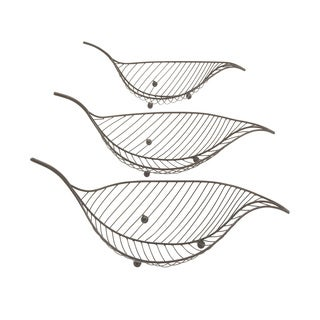 Metal Leaf (Set of 3) 19-inch/ 22-inch/ 23-inch