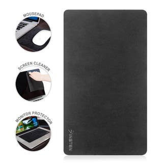 Insten Black Rubber Microfiber 3-in-1 Multifunctional Washable Mouse Pad/ Screen Cleaner/ Monitor Protector|https://ak1.ostkcdn.com/images/products/11715513/P18636812.jpg?impolicy=medium