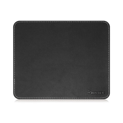 Insten PU Leather/ Rubber Mouse Pad for Optical or Trackball Mouse