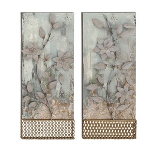 Metal Wall Plaque 2 Assorted 14-inch x 34-inch