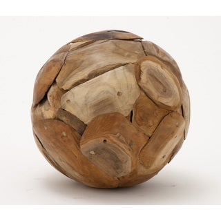 Teak Wood Ball 9-inch