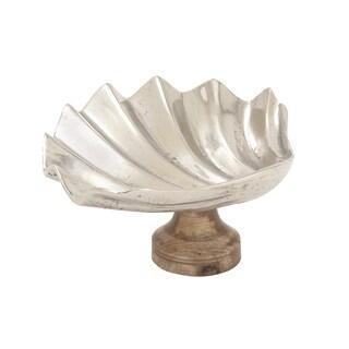 Aluminum Wood Shell Dish 19-inch x 9-inch
