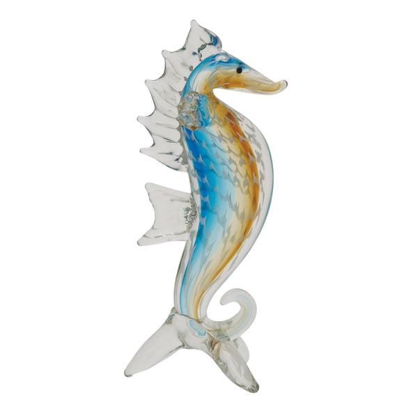 Glass Sea Horse 4-inch x 12-inch