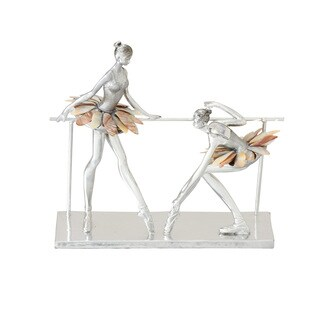 Silver Orchid Holm Polystyrene Ballet Dancers 12-inch x 11-inch