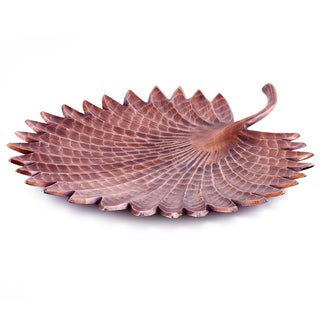 """Tribal"" Antique Copper Finish Aluminum Leaf Serving Tray"