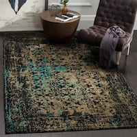 Safavieh Classic Vintage Black/ Olive Cotton Distressed Rug - 4' x 6'