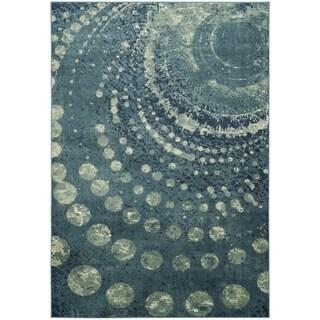 Safavieh Constellation Vintage Turquoise/ Multi Viscose Rug (4' x 5' 7)