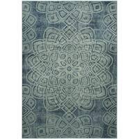 Safavieh Constellation Vintage Light Blue/ Multi Viscose Rug - 4' x 5' 7