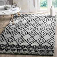 Safavieh Handmade Casablanca Grey/ Charcoal Wool Rug - 4' x 6'