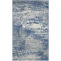 Safavieh Evoke Vintage Modern Abstract Navy / Ivory Distressed Rug - 3' x 5'