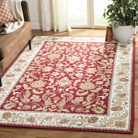 Safavieh Hand-hooked Easy to Care Red/ Ivory Rug - 3' x 5'