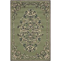 Safavieh Hand-hooked Easy to Care Sage/ Multi Rug - 3' x 5'