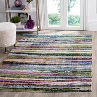 Safavieh Fiesta Shag Watercolor Multicolored Stripe Rug - multi - 4' x 6'