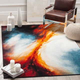 Safavieh Galaxy Watercolor Vintage Orange/ Multi Rug (2' 7 x 5')