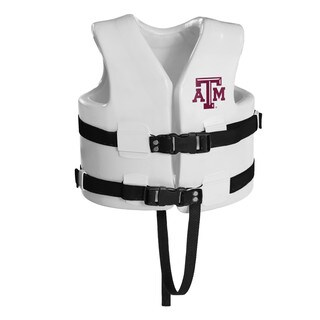 Texas Rec USCG Approved Child Water Vest White Finish Texas A&M