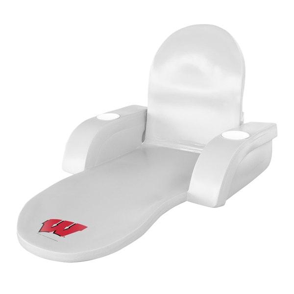 Texas Rec Floating Lounge White Finish Wisconsin Badgers