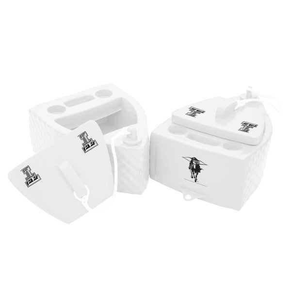 Texas Rec Floating Cooler White Finish Texas Tech