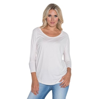 Beam Women's White Slub T-shirt