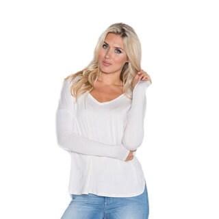 Beam Women's Grey Long-sleeve T-shirt