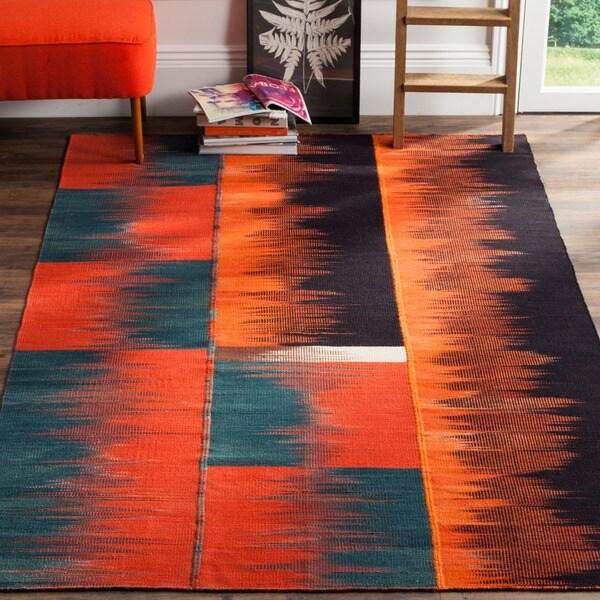 Safavieh Hand-Woven Kilim Multi Wool Rug (4' x 6')
