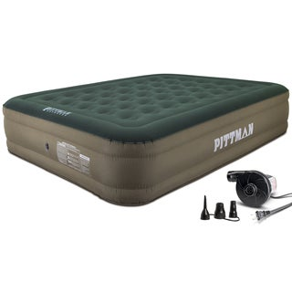 Queen Fabric Ultimate 16-Inch Indoor/Outdoor Air Mattress w/Portable Electric Air Pump
