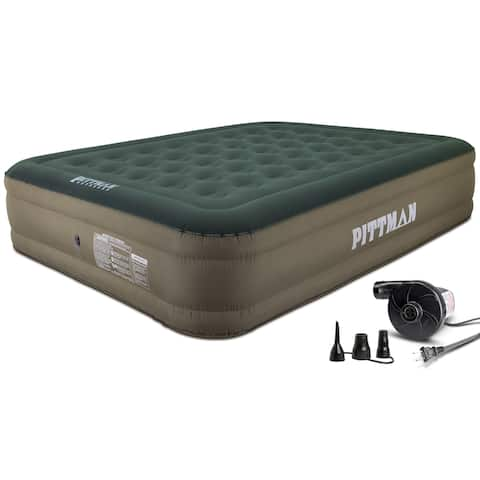 "Pittman Queen 16"" Indoor/Outdoor Air Mattress w/Electric Pump"