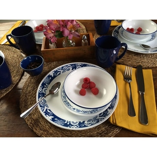 Corelle Livingware True Blue 16-piece Dinnerware Set