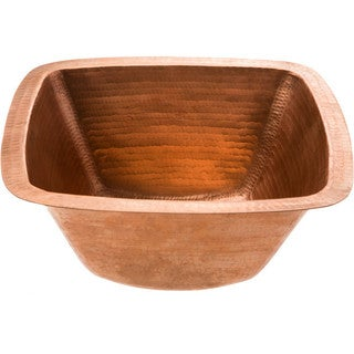 Polished Copper Square Bathroom Sink