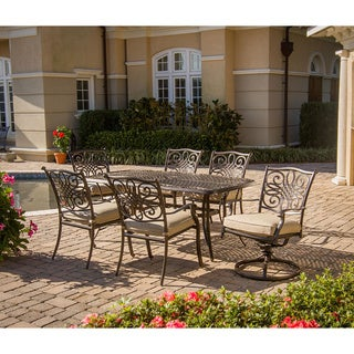 Hanover Traditions 5 Piece Outdoor Fire Pit Lounge Set