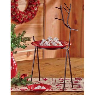 Tag Reindeer Plate Stand - Antique Bronze