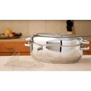 Precise Heat 12 Element T304 Stainless Steel Roaster with Wire Rack