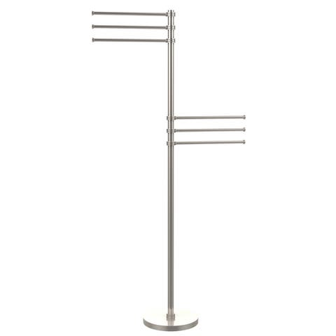 Allied Brass Towel Stand with 6 Pivoting 12-inch Arms