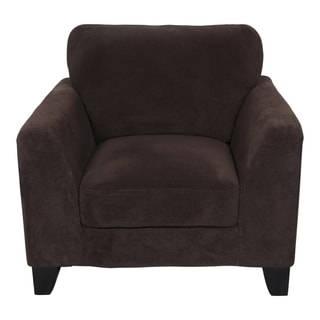Porter Brighton Chocolate Brown Textured Microfiber Arm Chair