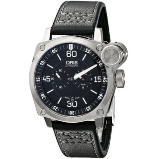 Oris Men's 74976324194LS 'BC4' Automatic Chronograph Black Leather Watch