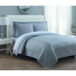 Estate Grid Stitched Quilt Set