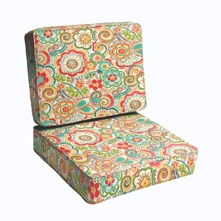 Red Rio Floral 2-piece Indoor/Outdoor Cushion Set