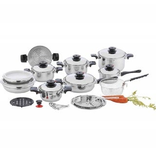 "Chef's Secret 28 Piece 12-Element T304 Stainless Steel ""Waterless"" Cookware"