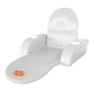 Texas Rec LOUNGE FOLDING TROP White Finish CLEMSON Tigers
