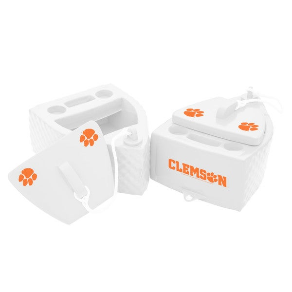 Texas Rec KOOLER FLOATING White Finish CLEMSON Tigers
