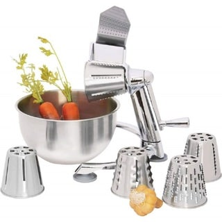 Maxam Stainless Steel Vegetable Chopper with 5 Quart Bowl
