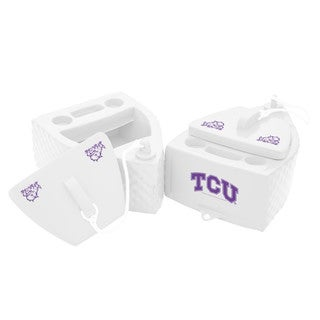 Texas Rec KOOLER FLOATING White Finish TCU Horned Frog